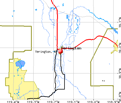 Yerington, NV map