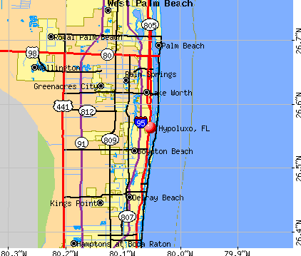 Hypoluxo, FL map