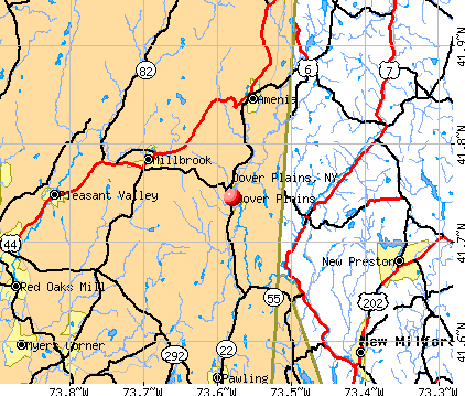 Dover Plains, NY map
