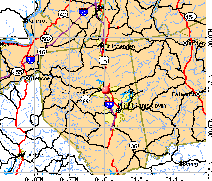 Dry Ridge, KY map