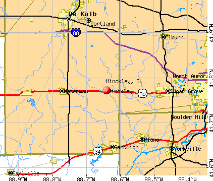 Hinckley, IL map