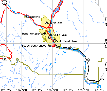 South Wenatchee, WA map