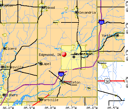 Edgewood, IN map