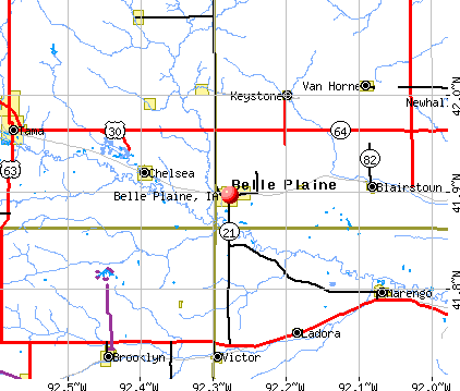 Belle Plaine, IA map