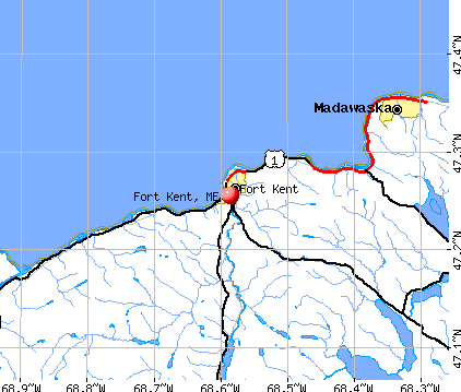 Fort Kent, ME map