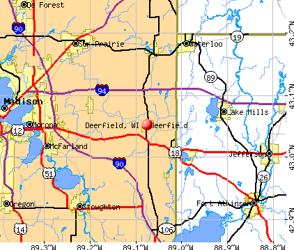 Deerfield, WI map