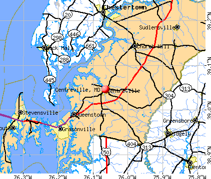 Centreville, MD map
