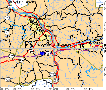 Catlettsburg, KY map