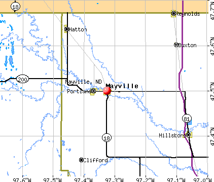Mayville, ND map