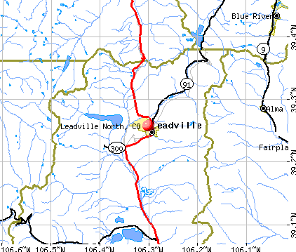 Leadville North, CO map