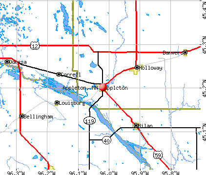 Appleton, MN map