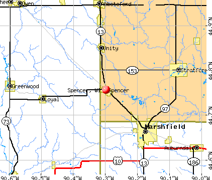 Spencer, WI map