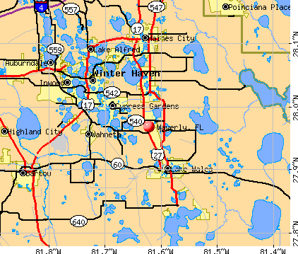 Waverly, FL map