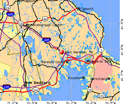 West Wareham, MA map