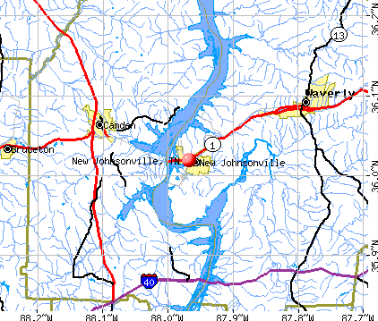 New Johnsonville, TN map