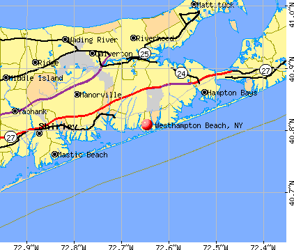 Westhampton Beach, NY map