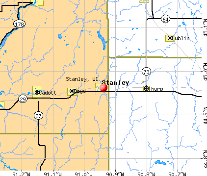 Stanley, WI map