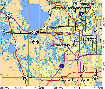 Windermere, FL map