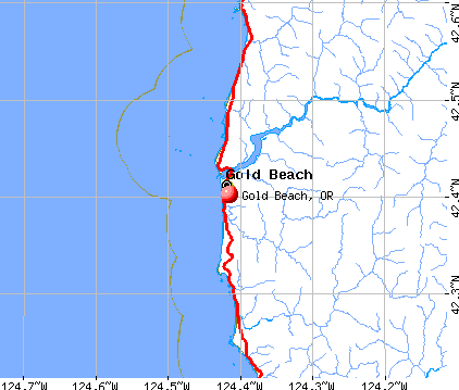 Gold Beach, OR map