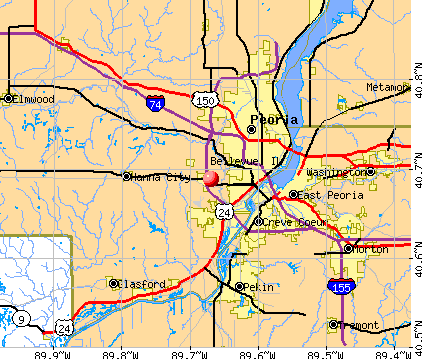 Bellevue, IL map