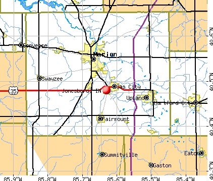 Jonesboro, IN map