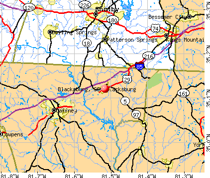 Blacksburg, SC map