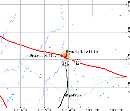Brackettville, TX map