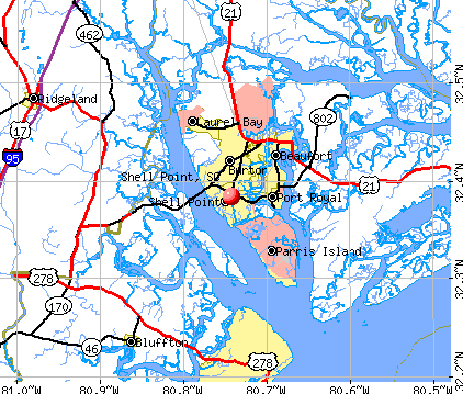 Shell Point, SC map