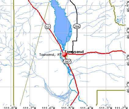 Townsend, MT map