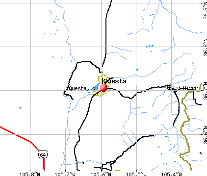 Questa, NM map