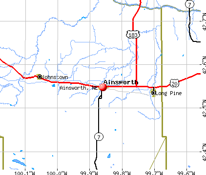 Ainsworth, NE map