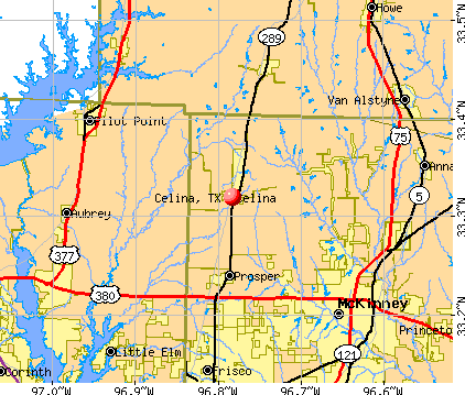 Celina, TX map