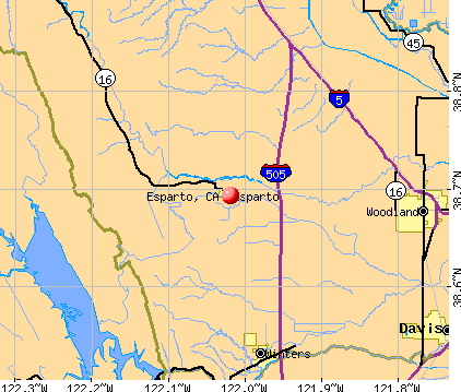 Esparto, CA map