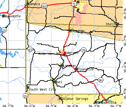 Anderson, MO map