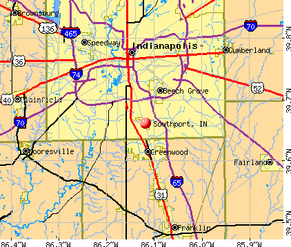Southport, IN map