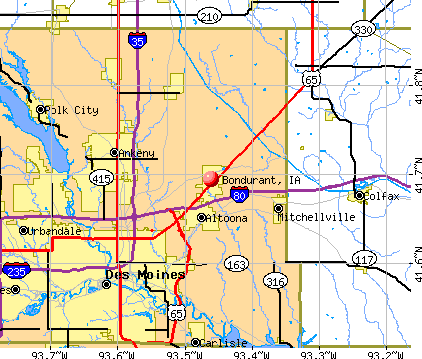 Bondurant, IA map