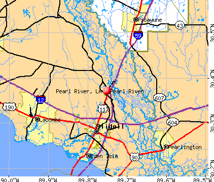 Pearl River, LA map