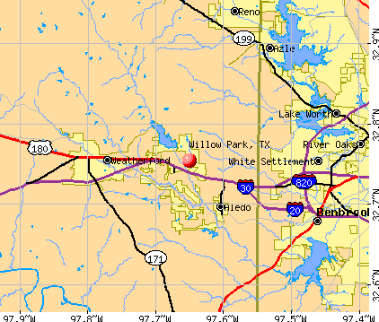 Willow Park, TX map