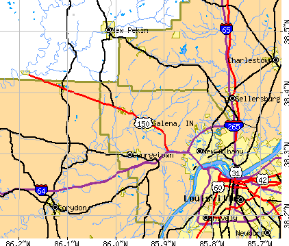 Galena, IN map