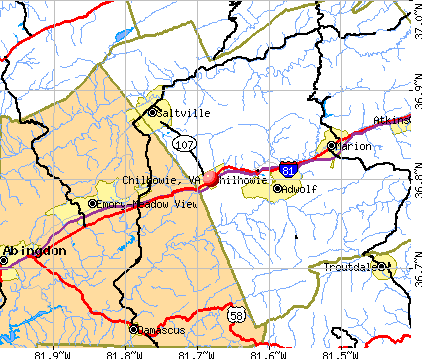 Chilhowie, VA map