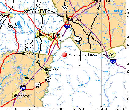 Plain View, NC map
