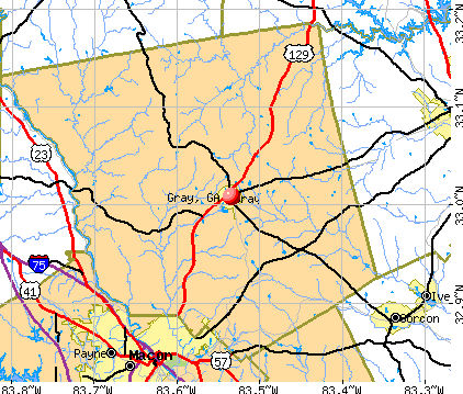 Gray, GA map