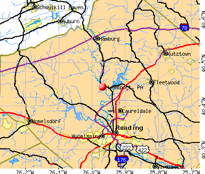 Leesport, PA map
