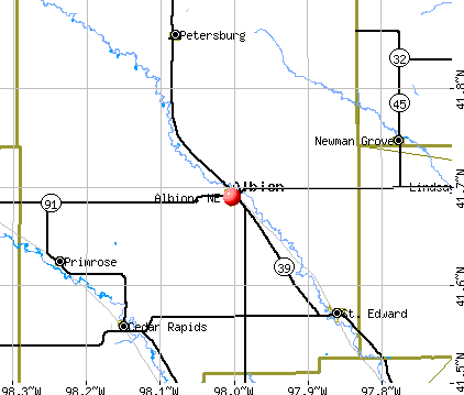 Albion, NE map