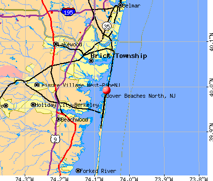 Dover Beaches North, NJ map