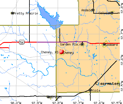 Cheney, KS map