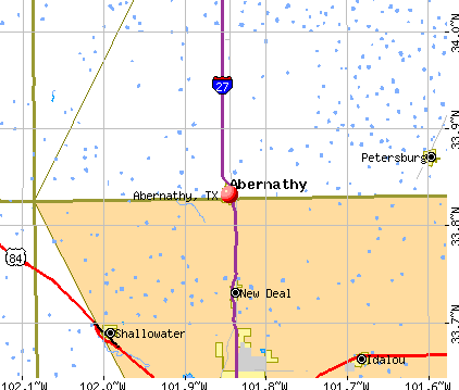 Abernathy, TX map