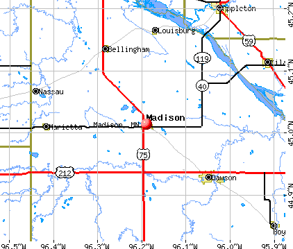 Madison, MN map