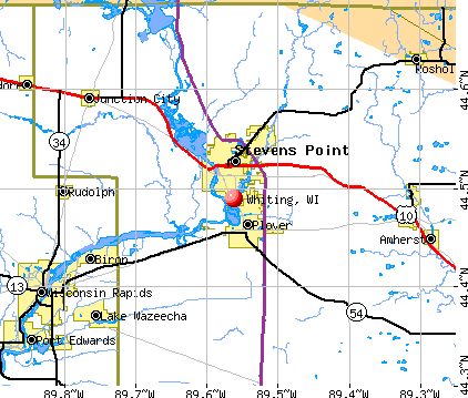 Whiting, WI map