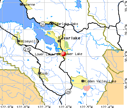 Lower Lake, CA map